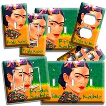 Colorful Portret Frida Kahlo Mexican Artist Light Switch Plate Outlet Wall Cover - $9.99+