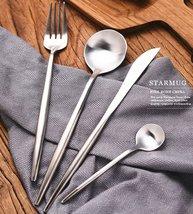 24-Piece Brushed Stainless Steel Silverware Set - 6 Settings - $168.30