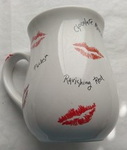 Mary Kay Coffee Cup With Lipstick Kisses All Around - $8.53