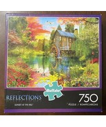 """Buffalo Reflections """"Sunset At The Mill"""" 750 PC Puzzle Complete &Excelle... - $9.41"""