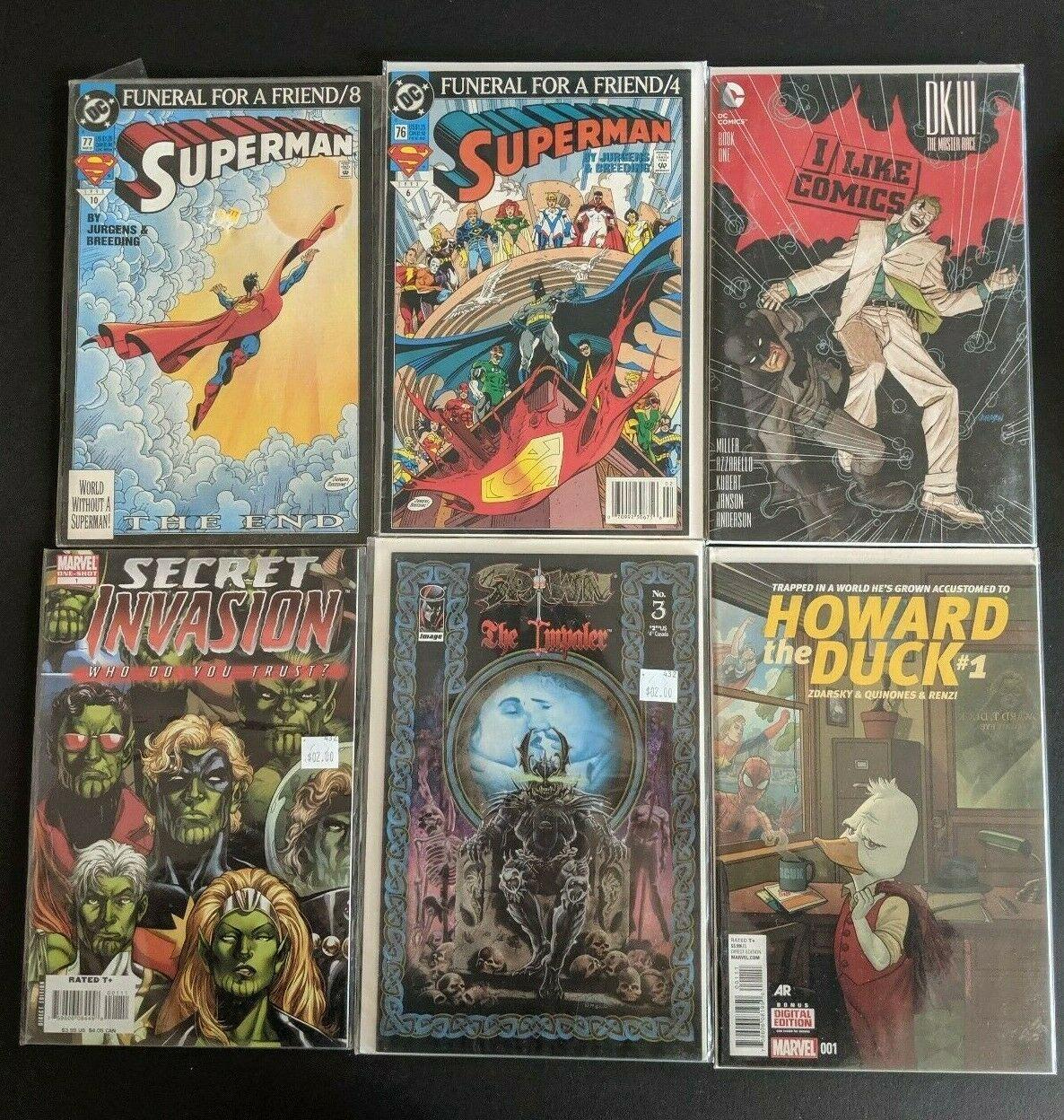 Comic Book Lot - Death of Captain Marvel, Secret Empire, Spiderman, Superman VTG