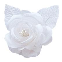 12 silk roses wedding favor flower corsage white - $7.72
