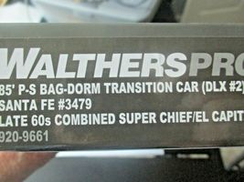 Walthers Proto Stock # 920-9661 Santa Fe 85' PS Bag-Dorm Trasition Deluxe # 2  image 5