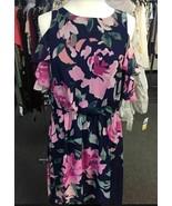INC INTERNATIONAL CONCEPT WOMEN'S LONG FLORAL DRESS NAVY SIZE 8 - $12.47