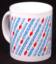 CHESROWN Chevrolet Coffee Mug-Official Dealership-White Cup Blue/Red Log... - $28.04