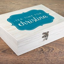 PERSONALISED Time For Tea Wooden Tea Box : Add Name, Choice Of Teas, Gif... - $33.38