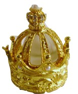 Faux Pearl Gold Crown Minature Perfume Bottle &... - $18.00