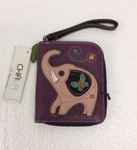 Chala Zip Around Wallet, Wristlet, 8 Credit Card Slots, elephant
