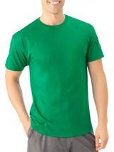 Fruit Of The Loom Men's Platinum Short Sleeve Crew Neck T Shirt Small Green - $9.89