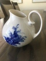 "Rosenthal Germany Rhapsody Romance Blue Flowers Embossed Mini Creamer 3-1/2"" - $19.80"