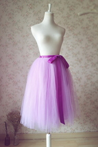 Purple Tulle Tutu Skirt High Waisted 4-Layered Tulle Skirt Ballet Skirt image 5