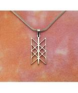 Web of Wyrd Necklace Skulds Net Norse Matrix of Fate Merkabah Necklace, ... - $37.61
