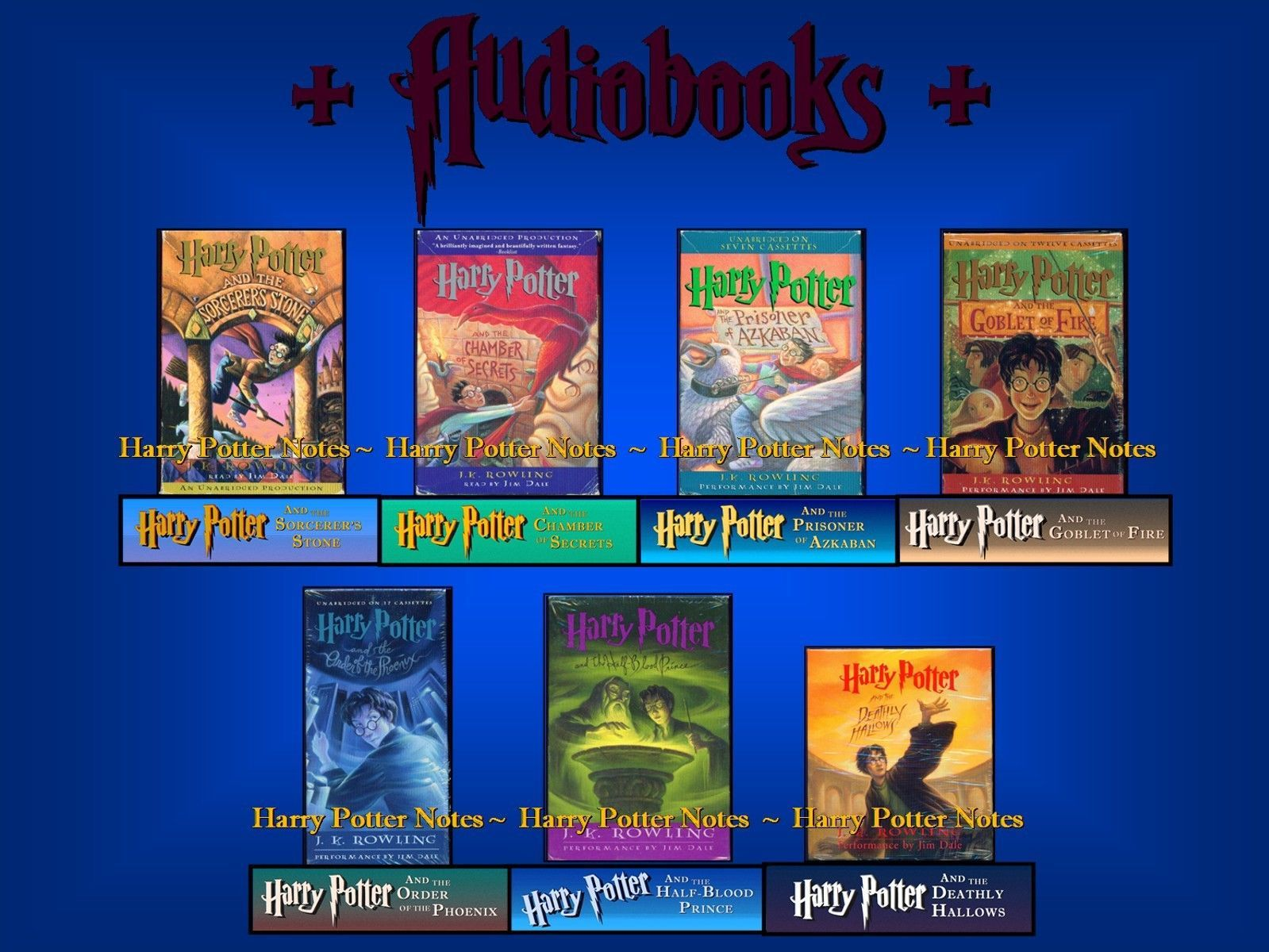 HARRY POTTER - AUDIO BOOKS - COMPLETE COLLECTION for sale  USA