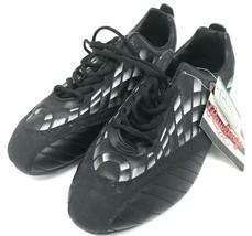 Rawlings Striker Mens Size 10.5 Soccer Cleats Black & Silver Checker New... - $18.69