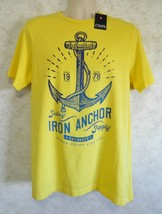 Men's Chaps Nantucket Sailing Club Tee Shirt Fashion Tee Yellow Sz Small Anchor - $19.68