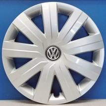 "ONE 2015-2016 Volkswagen Jetta S # 61594 15"" 9 Spoke Hubcap / Wheel Cover USED - $48.99"