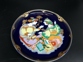 "Rosenthal studio line plate Excellent condition 6.5"" cobalt and gold trim - $30.00"