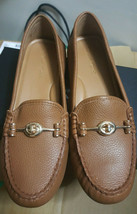 New Coach New York Leather Arlene Saddle Brown Work Comfort Flats 8B - $89.09
