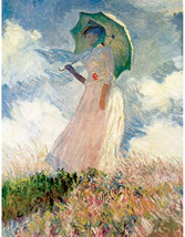 Claude_Monet_Study of a woman outdoors, 1868, antique french art, antiqu... - $23.99