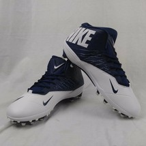 Nike Zoom 3/4 Top White/Blue Football Molded Cleats Shoe - $87.11
