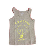 New GAP Kids Girl T-shirt Tank T-shirt Graphic Bright Bulb Grey 100% Cotton 2 2T - $13.85