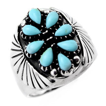 Sterling Silver Southwestern Ring with Turquoise Size 5.5 - $43.46