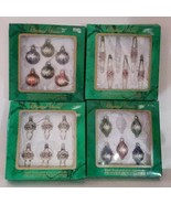 22 Vintage Commodore Glass Christmas Tree Ornaments 4 Shapes Made in Mexico - $48.00