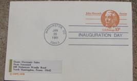 Post card Commemorative Inauguration Day 1981 Washington,DC Ronald Reagan - $9.98