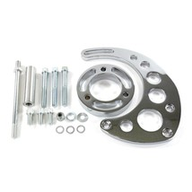 A-Team Performance Big Block Long Water Pump Alternator Bracket, Chrome