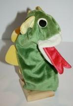 Kids II Baby Einstein Bard Green Dragon Velvety Plush Hand Puppet Soft T... - $19.32
