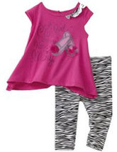 Toddler Girls 2 Piece Shoes & Zebra Legging Set - $31.00
