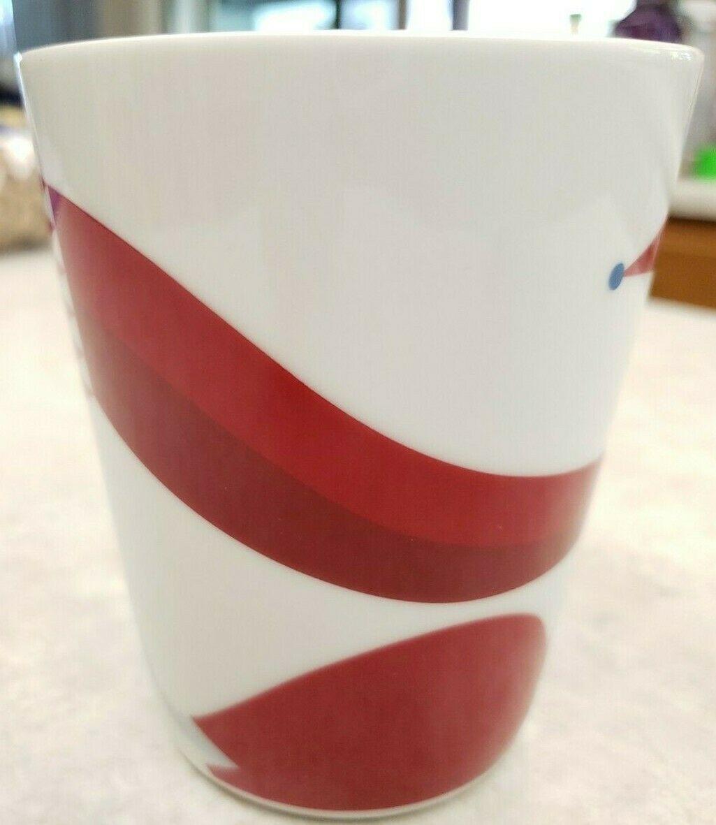 Starbucks Mug  2012 Red Fox Scarf Dove Coffee Tea Mug image 2