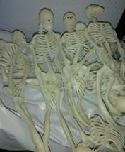 Vintage 12 inch Skeleton White w/ White Teeth Black EYES RUBBER  Hallowe... - $7.57