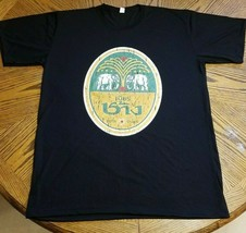 Chang Beer Thai Drink T Shirt Gift New From US Size XXL Black - $18.80