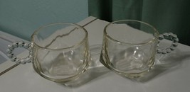 Lot 2 vintage replacement Ball and Rib design by Hazel Atlas Glass cups mugs - $21.47