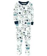 Carter's 1 Piece Glow In The Dark Snug Fit Cotton PJs SZ 12 MOS - NEW wi... - $13.95