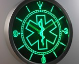 EMS Paramedic Medical Services Neon Light Signs LED Wall Clock Display Glowing - £46.60 GBP