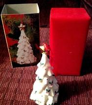 Christmas Tree Ornament Porcelain Baum Brothers Formalities Original Box - $14.85