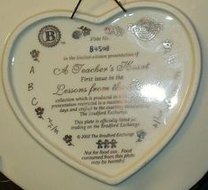 A Teacher's Heart Plate - Lessons from the Heart C B4508 Collection AA20-2079 Vi image 6