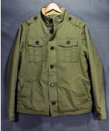 Men's M-65 Sherpa Lined Military Field Jacket Rip-stop Twill Olive Large... - $39.94