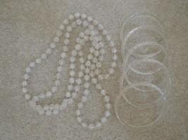 Necklace & 5 Matching Bangle Bracelets Crackled Crystal Look Costume Jew... - €5,68 EUR