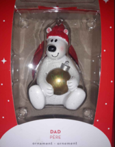 Dad 2018 - Polar Bear Christmas Ornament American Greetings Heriloom NIP - $3.55