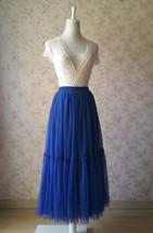 ROYAL BLUE High Waist Tulle Skirt Bridal Bridesmaid Skirt Layer Full Tulle Skirt image 3