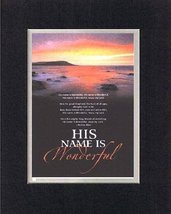 His name is wonderful. . . 8 x 10 Inches Biblical/Religious Verses set i... - $11.14