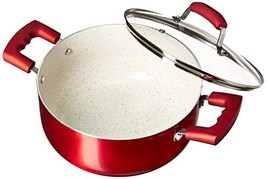 IMUSA USA IMU-25074 4.9Qt Ruby Red Nonstick Dutch Oven with Glass Lid an... - $29.07