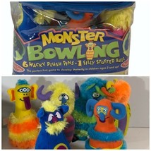 Melissa & Doug Wacky plush Monster bowling game 6 pins 1 silly ball in Carry Bag - $12.86