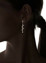 Chloe+Theodora 14K Gold Plated Waterfall Cubic Zirconia Crystal Droplet Earrings image 2