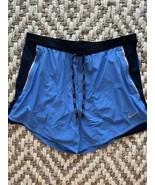 NWT Nike Flex Swift 2-In-1 Running Shorts Men's Size XL Blue Black CJ970... - $49.95