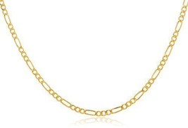 "14k Yellow Gold 2.6mm Figaro Chain - 18"" to 24"" Available - $125.99"