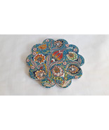 Ottoman Inspired Handmade Round Ceramic Tile Trivet with Silicon Backing  - $29.50